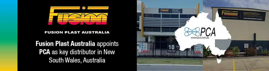 Fusion Plast Australia appoints PCA as key distributor in New South Wales, Australia